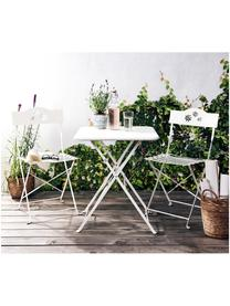 Table de balcon pliante en métal Daisy, Blanc