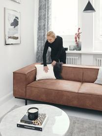 Leder-Sofa Abigail (2-Sitzer) in Braun mit Metall-Füßen, Bezug: Lederfaserstoff (70% Lede, Beine: Stahl, lackiert, Leder Braun, B 190 x T 95 cm