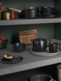 Servierschale Nordic Kitchen in Schwarz matt Ø 20 cm, 4 Stück, Steingut, Schwarz, matt, Ø 20 cm