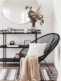 Loungesessel Bahia aus Kunststoff-Geflecht, Sitzfläche: Kunststoff, Gestell: Metall, pulverbeschichtet, Schwarz, B 81 x T 73 cm