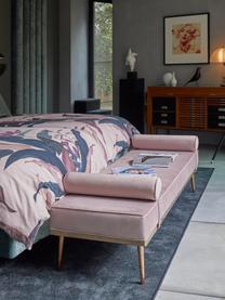 Fluwelen daybed Aurora in roze met metalen poten, Bekleding: fluweel (hoogwaardig poly, Poten: gecoat metaal, Fluweel mauve, 180 x 42 cm