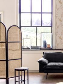 Kamerscherm Webbing, Frame: sungkai hout, Zwart, 150 x 180 cm