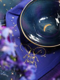 Set 4 piattini da dessert Galaxy, Porcellana, Blu, oro, Ø 16 x Alt. 2 cm