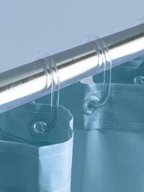 Anelli per tenda doccia Crystal 12 pz, Materiale sintetico, Trasparente, Alt. 7 cm