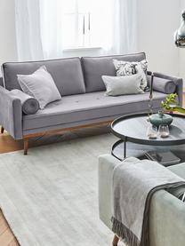 Samt-Sofa Saint (2-Sitzer) in Grau mit Eichenholz-Füßen, Bezug: Samt (Polyester) Der hoch, Gestell: Massives Eichenholz, Span, Samt Grau, B 169 x T 87 cm