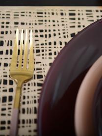 Set 24 posate color champagne opache in acciaio inossidabile per 6 persone Faina, Acciaio inossidabile 18/0, rivestito, Ottonato, nero, Set in varie misure