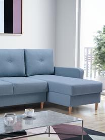 Sofa narożna z funkcją spania i miejscem do przechowywani Vinci (4-osobowa), Tapicerka: 100% poliester, Niebieski, S 231 x G 146 cm