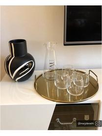 Karafka ze szkła Eau, 1 l, Szkło, Transparentny, odcienie złotego, W 23 cm