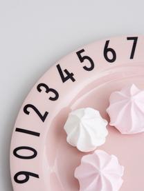 Frühstück-Set Numbers, 3-tlg., Melamin, Rosa, Schwarz, 21 x 7 cm