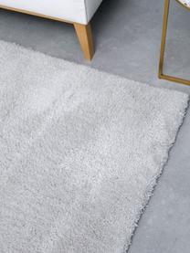 Flauschiger Hochflor-Teppich Leighton in Hellgrau, Flor: Mikrofaser (100% Polyeste, Hellgrau, B 120 x L 180 cm (Größe S)