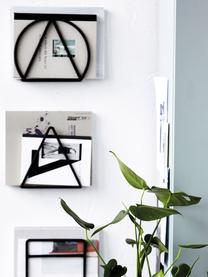Wand-Zeitschriftenhalter-Set Loge, 3-tlg., Metall, lackiert, Schwarz, 25 x 20 cm