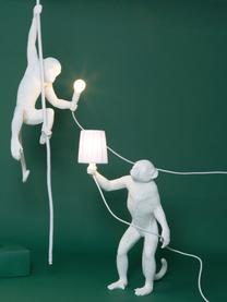 Lampada da tavolo a LED da esterno Monkey, Resina, Bianco, Larg. 46 x Alt. 54 cm