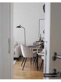 Moderne fluwelen stoelen Amy, 2 stuks, Bekleding: fluweel (polyester), Poten: gepoedercoat metaal, Fluweel crèmewit, B 51 x D 55 cm