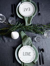 Set 4 piattini da dessert in porcellana Glimmer, Porcellana, Bianco, nero, ∅ 21 cm