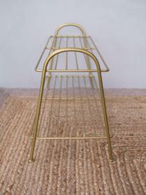 Scarpiera piccola con 2 ripiani Anna, Metallo verniciato, Ottonato, Larg. 64 x Alt. 37 cm