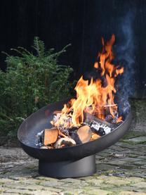 Schräge Feuerschale Dannie, Metall, beschichtet, Schwarz, 50 x 39 cm