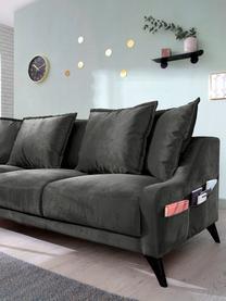 Sofa z aksamitu Royal (3-osobowa), Ciemnyszary, S 200 x G 95 cm