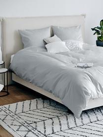 Katoensatijnen dekbedovertrek Comfort, Weeftechniek: satijn, licht glanzend, Lichtgrijs, 240 x 220 cm + 2 kussen 60 x 70 cm