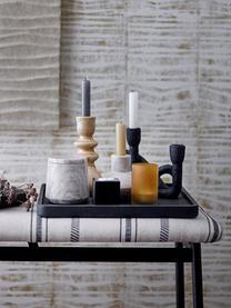 Kerzenhalter Mashel, Kunststoff, Schwarz, 21 x 17 cm