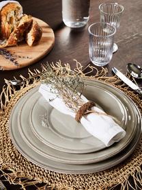 Assiette à dessert maison de campagne Constance, 2pièces, Gris clair