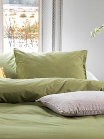 Renforcé dekbedovertrek Soft Structure, Weeftechniek: renforcé, Groen, 200 x 220 cm