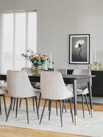 Table extensible Fenwood, 180 - 260 x 90 cm, Noir, couleur laitonnée