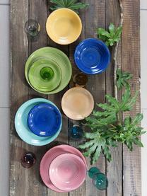 Komplet ręcznie malowanych naczyń Baita, 18elem., Kamionka (twardy dolomit), ręcznie malowana, Ciemnyniebieski, czerwony, zielony, turkusowy, żółty, jasny pomarańczowy, Komplet z różnymi rozmiarami