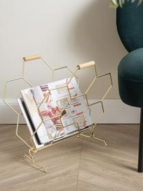 Revistero Honeycomb, Asas: madera, Latón, madera, An 40 x Al 45 cm