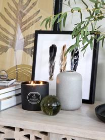 Ingelijste digitale Three Feathers, Afbeelding: digitale print, Lijst: metaal, Wit, zwart, bruin, 30 x 30 cm