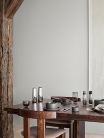 Zout- en pepermolen Salpi in zilverkleur, Deksel: kunststof, Zilverkleurig, Ø 7  x H 20 cm