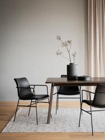 Chaise cuir synthétique noir Huntington, 2pièces, Cuir synthétique noir