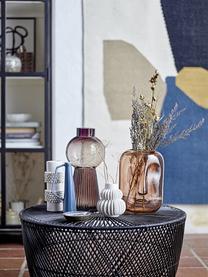 Vaso grande di design in vetro Mola, Vetro, Marrone trasparente, Ø 17 x Alt. 34 cm