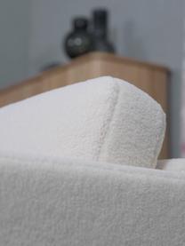 Canapé 3places peluche crème Fluente, Tissu blanc crème