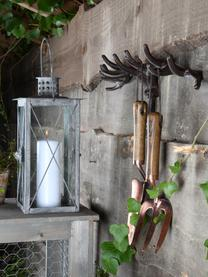 Lantaarn Lion, Glas, gecoat staal, Grijs, 19 x 37 cm