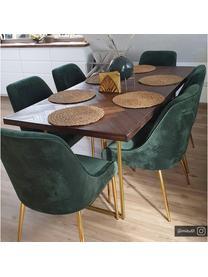 Silla de terciopelo Ava, Tapizado: terciopelo (100%poliéste, Patas: metal galvanizado, Terciopelo verde oscuro, An 55 x F 60 cm