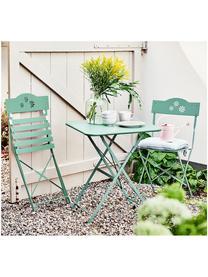 Table de balcon pliante en métal Daisy, Vert sauge