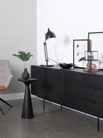 Schwarzer Beistelltisch Floss, Aluminium, pulverbeschichtet, Schwarz, matt, Ø 28 x H 56 cm