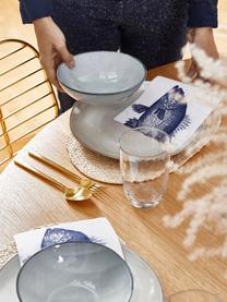 Handgemachte Steingut-Schalen Thalia in Blaugrau, 2 Stück, Steingut, Blaugrau, Ø 18 x H 6 cm