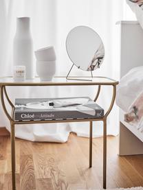 Lusterko kosmetyczne Standing Mirror, Zawieszka: mosiądz Lustro: szkło lustrzane, S 20 x W 23 cm