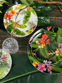 Set 18 piatti per 6 persone Tropical Jungle, Multicolore, Set in varie misure