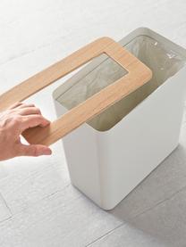 Papierkorb Rin aus lackiertem Stahl, Deckel: Holz, Schwarz, Dunkelbraun, B 28 x H 30 cm