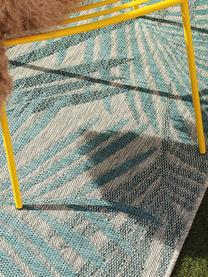 Tapis d'extérieur motif palmier Cleo, Bleu