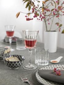 Kristallgläser Timeless mit Rillenstruktur, 6er-Set, Kristallglas, Transparent, Ø 9 x H 9 cm