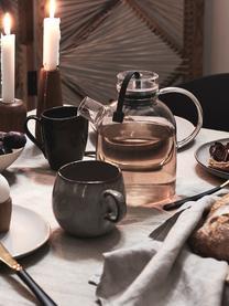 Tazza in terracotta fatta a mano Nordic Coal 6 pz, Terracotta, Marrone scuro, Ø 8 x Alt. 10 cm