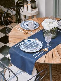 Runder Gartentisch Hard & Ellen mit Teakholzplatte, Tischplatte: Teakholz, geschliffen, Anthrazit, Teakholz, Ø 110 x H 73 cm