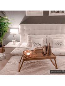 Klassieke tafellamp Vanessa, Lampvoet: metaal, Lampenkap: textiel, Lampvoet: chroomkleurig. Lampenkap: wit. Snoer: wit, 27 x 52 cm