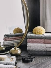 Asciugamano con motivo a nido d'ape Katharina, Grigio argento, Asciugamano