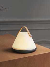 Přenosná stmívatelná venkovní stolní lampa Move, Bílá, černá, dřevo
