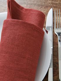 Tovagliolo in lino Heddie 2 pz, 100% lino, Rosso, Larg. 45 x Lung. 45 cm