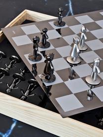 Schachspiel Buddy, 33-tlg., Box: Eschenholz, Box: Esche Schachbrett: Titan Figuren: Nickel, Titan, 33 x 4 cm